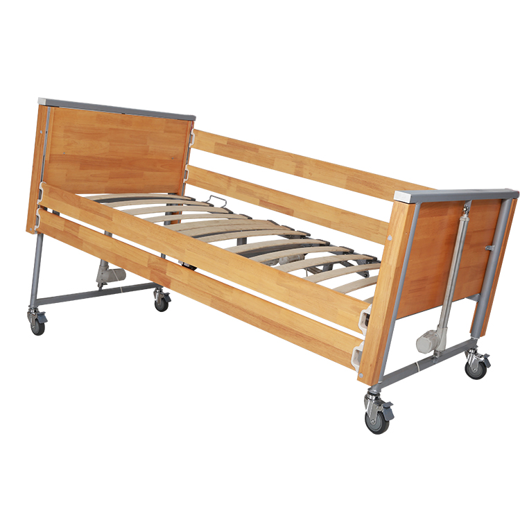 German Style 02 Foldable Multi-Functional Wooden Electric Home Nursing Bed