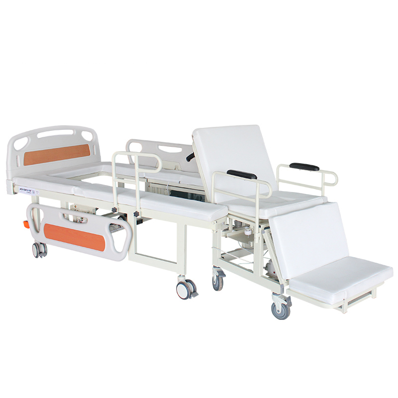 W01 Electric Manual Home Nursing Bed with Built-in Wheelchair